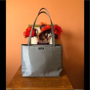 VINTAGE 90's pewter KATE SPADE medium nylon purse